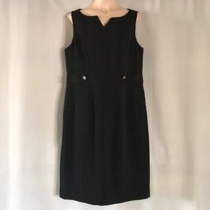 Kasper Sleeveless Black Dress - Size 16